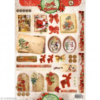 Carte 3D pré-découpée - Noël étiquettes - A4