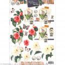 Carte 3D pré-découpée - Botanique papillons - A4 - Photo n°1