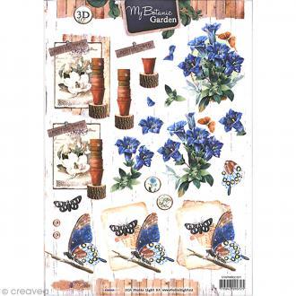 Carte 3D à découper - Botanique fleurs clochettes - A4
