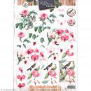 Carte 3D à découper - Botanique fleurs roses - A4 - Photo n°1
