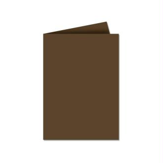 Papier Pollen carte double 110 x 155 Marron taupe x 25