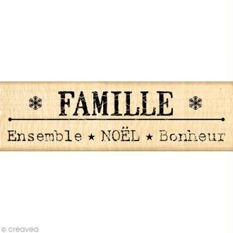 Tampon Noël - Un doux matin d'hiver - Bonheur en famille - 3 x 10 cm