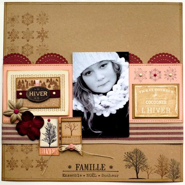 Tampon Un doux matin d'hiver - Flocons usés - 6 x 8 cm - Photo n°4