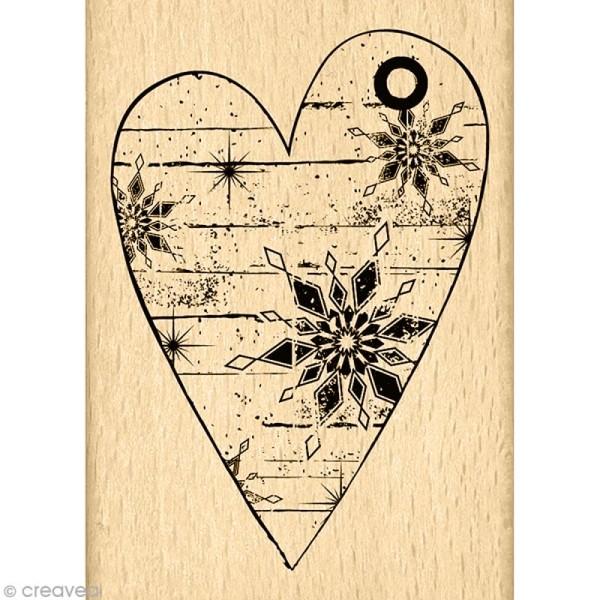Tampon Un doux matin d'hiver - Coeur d'hiver - 7 x 5 cm - Photo n°1