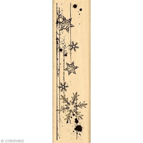 Tampon Un doux matin d'hiver - Bordure de page - 15 x 4 cm - Photo n°1