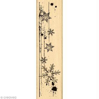 Tampon Un doux matin d'hiver - Bordure de page - 15 x 4 cm