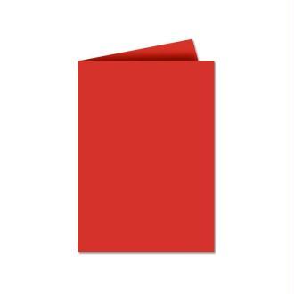 Papier Pollen carte double 110 x 155 Rouge corail x 25