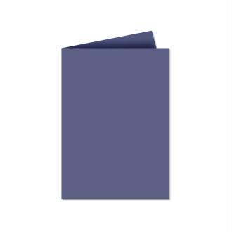 Papier Pollen carte double 110 x 155 Bleu nuit x 25