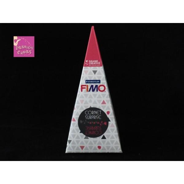 Pochette / Cornet Surprise Fimo Rose De La Marque Graine Créative - Photo n°1