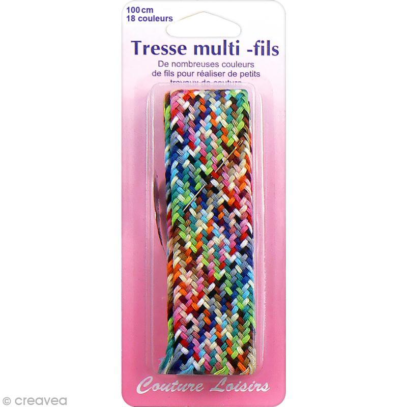Fil coudre en tresse 18 couleurs x 1 m tre fil couture creavea for Au fil des couleur