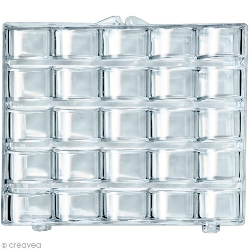 Boîte de rangement 25 canettes en plastique - Canette de machine à coudre - Creavea