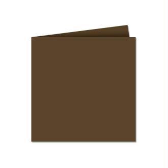 Papier Pollen carte double 135 x 135 Marron taupe x 25