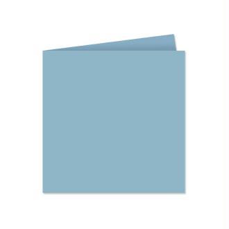 Papier Pollen carte double 135 x 135 Bleu lavande x 25