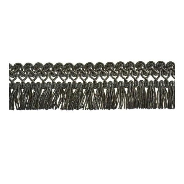 Galon frange rayonne noir 45mm - Photo n°1