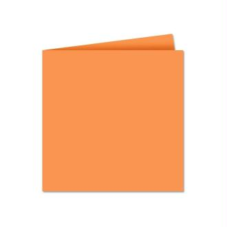 Papier Pollen carte double 135 x 135 Clémentine x 25