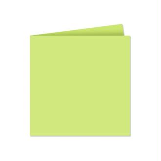Papier Pollen carte double 135 x 135 Vert bourgeon x 25