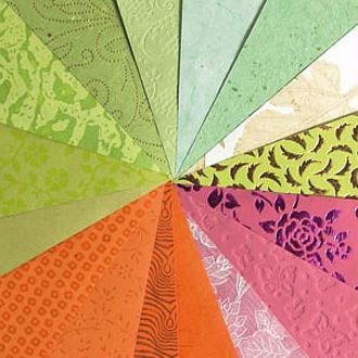 Papier du monde A4 20 feuilles vert, rose et orange