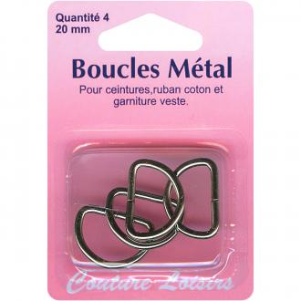 Fermoir boucles en métal 20 mm - 4 pcs