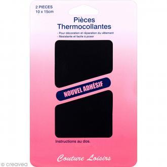 Coupon thermocollant Jean Noir - 10 x 15 cm - 2 pcs