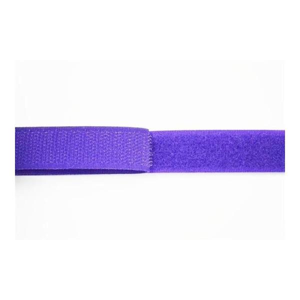 Ruban accrocheur à coudre 20mm violet - Photo n°1