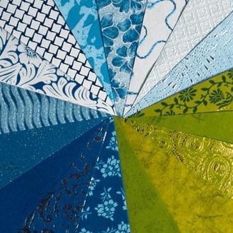 Papier du monde A4 20 feuilles bleu et vert