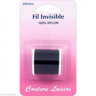 Bobine de fil invisible Noir - 200 m