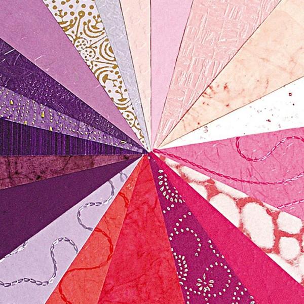 Papier du monde A4 20 feuilles violet et rose - Photo n°1