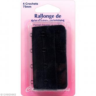 Rallonge de soutien-gorge - Noir - 75 mm - 4 crochets