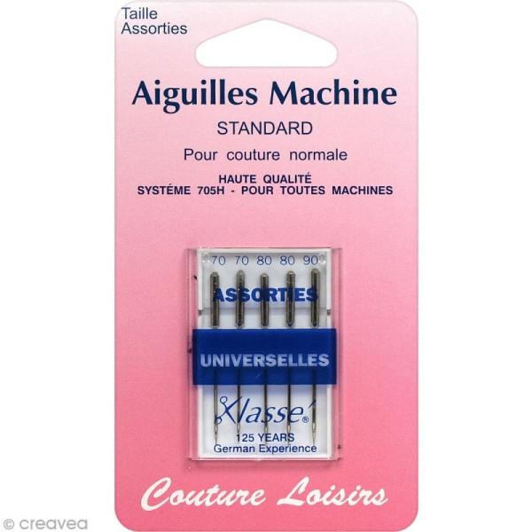 Aiguilles universelles pour machine - Standard - Taille 70 - 80 - 90 - 5 pcs - Photo n°1