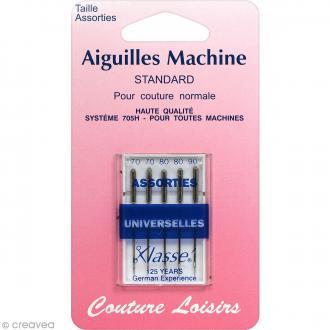 Aiguilles universelles pour machine - Standard - Taille 70 - 80 - 90 - 5 pcs