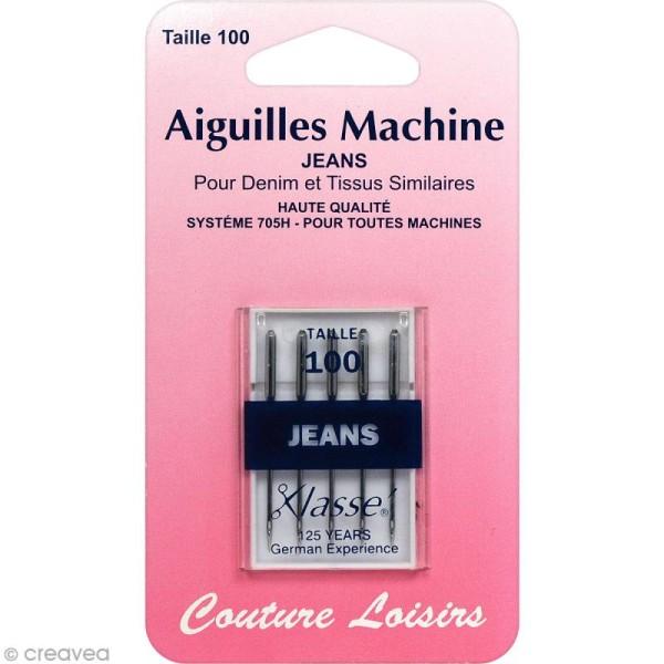 Aiguilles pour machine - Spécial Jeans - Taille 100 - 5 pcs - Photo n°1
