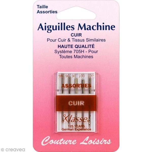 Aiguilles pour machine - Spécial cuir - Tailles 90-100 - 5 pcs - Photo n°1