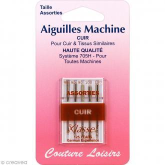 Aiguilles pour machine - Spécial cuir - Tailles 90-100 - 5 pcs