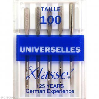 Aiguilles pour machine - Acier - Taille 100 - Universelles - 5 pcs