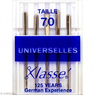 Aiguilles machine - Acier - Taille 70 - Universelles - 5 pcs