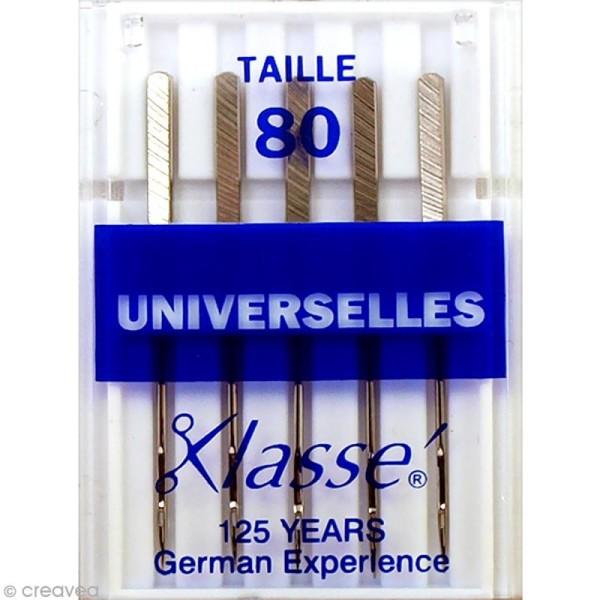 Aiguilles pour machine - Acier - Taille 80 - Universelles - 5 pcs - Photo n°1