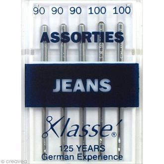 Aiguilles jeans pour machine - Acier - Tailles assorties - 5 pcs