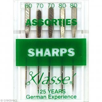 Aiguilles sharps pour machine - Acier - Tailles assorties