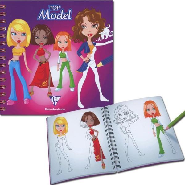 Carnet De Dessin Creativ Model Top Model 100 Pages Cahier De Stylisme Creavea