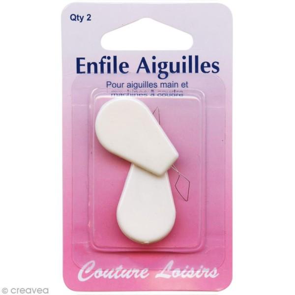Enfile aiguille - Blanc - 2 pcs - Photo n°1