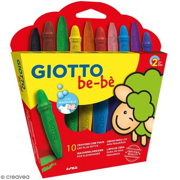Kit maxi crayon à la cire Giotto Bébé + taille crayon - Photo n°1