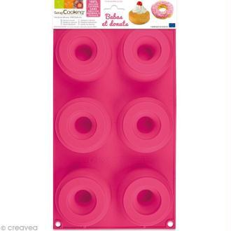 Moule 6 Babas et Donuts en silicone