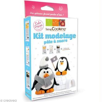 Kit de modelage pour pâte à sucre - Pingouin