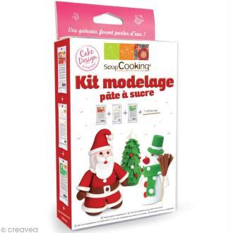 Kit de modelage pour pâte à sucre - Noël