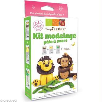 Kit de modelage pour pâte à sucre - Jungle
