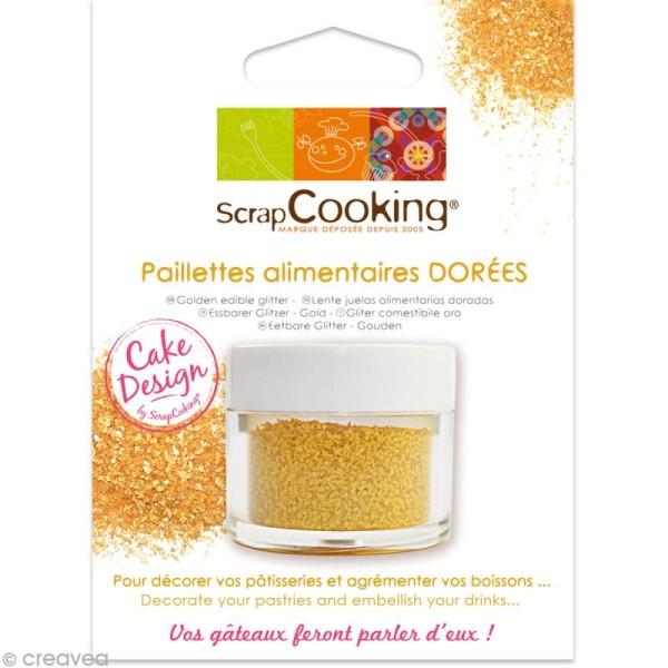 Paillettes alimentaires dorées - 5 g - Photo n°1