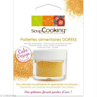 Paillettes alimentaires dorées - 5 g