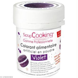 Colorant poudre alimentaire artificielle - Violet - 5 g