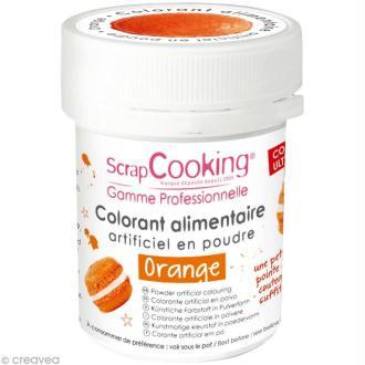 Colorant poudre alimentaire artificielle - Orange - 5 g