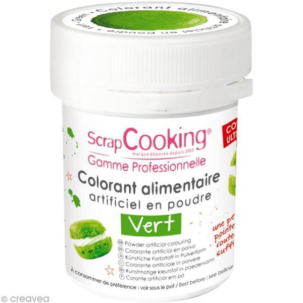 Colorant poudre alimentaire artificielle - Vert - 5 g - Photo n°1